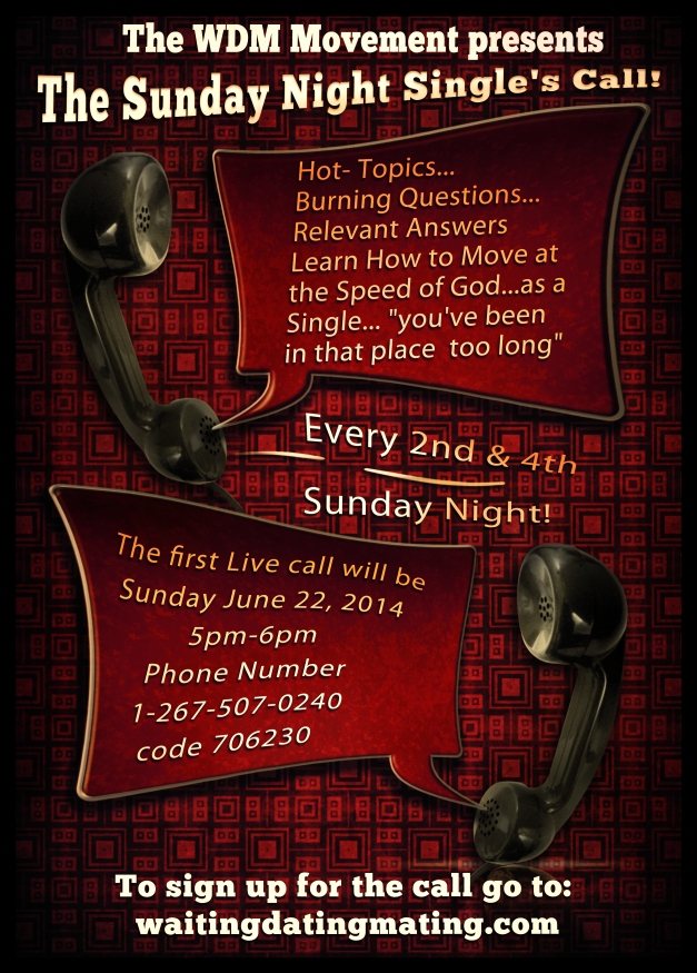 Calling all Singles to the Singles Call!  (click the flier to sign-up!)